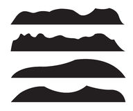 Mountain Silhouettes Stock Images