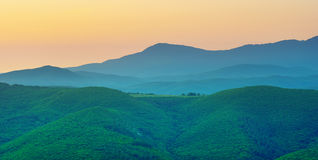 Mountain silhoutte Stock Photography
