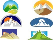 Mountain simple  logo Stock Photos