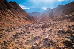 Mountain in Sinai desert Egypt Stock Image