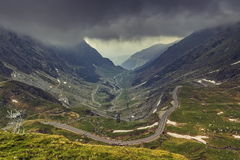Mountain sinuous road Royalty Free Stock Images