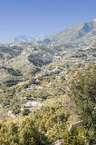 Mountains of Frigiliana in vertical Royalty Free Stock Images