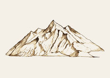 Mountain. Sketch illustration of a mountain vector illustration