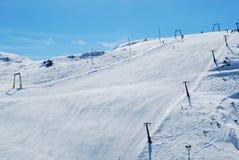 Mountain ski. Ski center. Cross-Country Ski Royalty Free Stock Photography