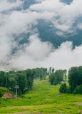 Mountain Ski Area summer. Ski resort Rosa Khutor, Sochi Stock Photography
