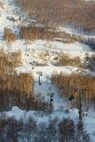 Mountain ski center Metallurg-Magnitogorsk Royalty Free Stock Images
