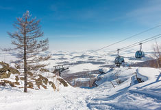 Mountain ski center Metallurg-Magnitogorsk Stock Photo