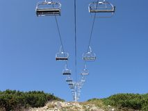 Mountain ski lift Royalty Free Stock Image