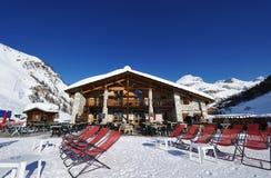 Mountain ski resort Royalty Free Stock Image