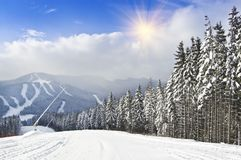 Mountain ski resort Stock Photos