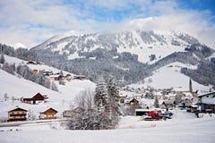 Mountain ski resort in Austria - nature, background Royalty Free Stock Photos