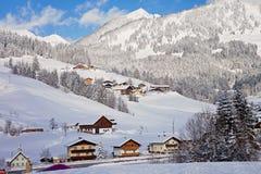 Mountain ski resort in Austria - nature, sport background Stock Images