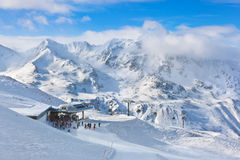 Mountain ski resort Hochgurgl Austria stock photography