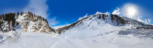 Mountain ski resort Obergurgl Austria Stock Photography