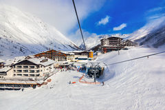 Mountain ski resort Obergurgl Austria Royalty Free Stock Photos