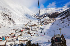 Mountain ski resort Obergurgl Austria Stock Image