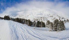 Mountain ski resort Obergurgl Austria Royalty Free Stock Photos