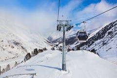 Mountain ski resort Obergurgl Austria. Nature and sport background Royalty Free Stock Photo