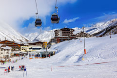 Mountain ski resort Obergurgl Austria royalty free stock photo