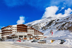 Mountain ski resort Obergurgl Austria royalty free stock photography