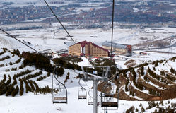 Mountain ski resort Palandoken Turkey Stock Images