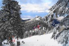 Mountain ski resort, Romania Royalty Free Stock Photo