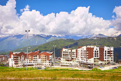 Mountain ski resort. Sochi, Russia Royalty Free Stock Image