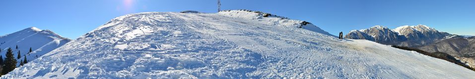 Mountain ski slope panorama Stock Photos