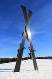 Mountain ski on snow Stock Photo