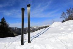 Mountain ski on snow. Of winter resort Stock Image