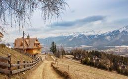 Mountain ski village Royalty Free Stock Photo