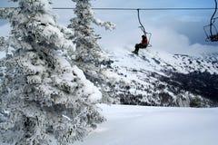 Mountain-skier stock photo