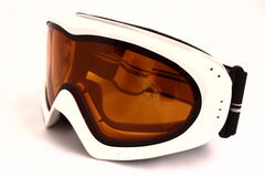Mountain-skier glasses. Image of the isolated mountain-skier glasses on a white background Stock Images