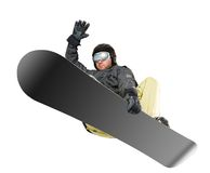 Mountain-skier jump Royalty Free Stock Photos