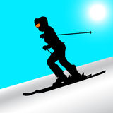Mountain skier Royalty Free Stock Photography