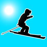 Mountain skier Royalty Free Stock Photo
