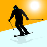 Mountain skier Royalty Free Stock Image