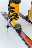 Mountain-skiing boot Stock Photo