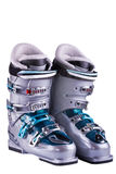 Mountain-skiing boots Stock Photo