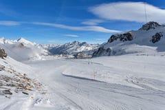 Mountain skiing - Italy, Valle d`Aosta, Cervinia Royalty Free Stock Photo