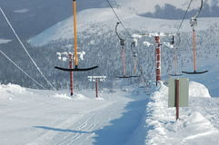 The mountain-skiing lift. Royalty Free Stock Photography