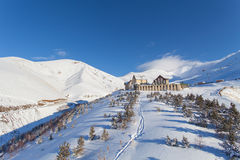 Mountain skiing, Palandoken, Erzurum stock photos