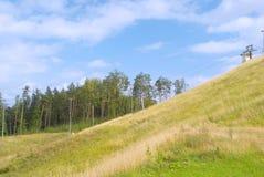 Mountain-skiing slope Royalty Free Stock Photo