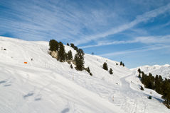 Mountain-skiing slope Stock Image