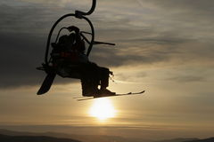 Mountain skis Stock Images
