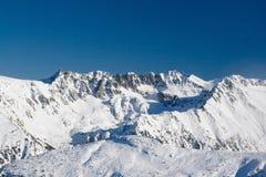 Mountain and sky. Peaks on mountain Pirin, Bansko resort, Bulgaria Stock Images