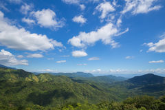 Mountain with sky and cloud at Khao Kho, Phetchabun, Thailand Stock Photos
