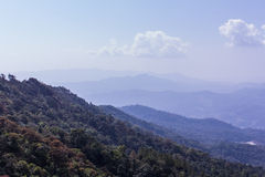 Mountain with sky in doi inthanon, Chiangmai Thailand Stock Images