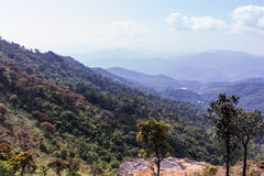 Mountain with sky in doi inthanon, Chiangmai Thailand Stock Photography