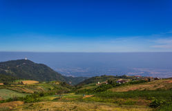Mountain with the sky at Phu Thap Boek in Phetchabun. Royalty Free Stock Image